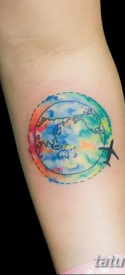 фото тату земной шар от 16.04.2018 №138 – tattoo globe – tatufoto.com