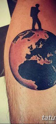 фото тату земной шар от 16.04.2018 №140 – tattoo globe – tatufoto.com