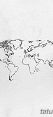 фото тату земной шар от 16.04.2018 №148 – tattoo globe – tatufoto.com
