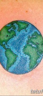 фото тату земной шар от 16.04.2018 №149 – tattoo globe – tatufoto.com