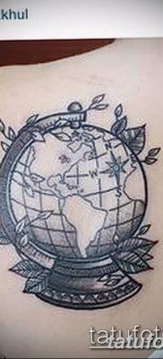 фото тату земной шар от 16.04.2018 №155 – tattoo globe – tatufoto.com