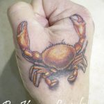 фото тату краб от 18.04.2018 №009 - tattoo crab - tatufoto.com