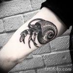 фото тату краб от 18.04.2018 №012 - tattoo crab - tatufoto.com