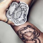 фото тату краб от 18.04.2018 №017 - tattoo crab - tatufoto.com
