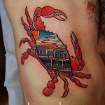 фото тату краб от 18.04.2018 №024 - tattoo crab - tatufoto.com