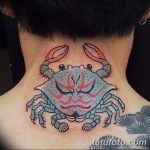 фото тату краб от 18.04.2018 №031 - tattoo crab - tatufoto.com