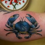 фото тату краб от 18.04.2018 №047 - tattoo crab - tatufoto.com