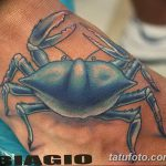 фото тату краб от 18.04.2018 №065 - tattoo crab - tatufoto.com