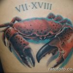 фото тату краб от 18.04.2018 №070 - tattoo crab - tatufoto.com