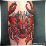 фото тату краб от 18.04.2018 №083 - tattoo crab - tatufoto.com