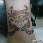 фото тату краб от 18.04.2018 №085 - tattoo crab - tatufoto.com