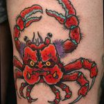 фото тату краб от 18.04.2018 №171 - tattoo crab - tatufoto.com