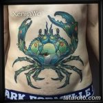 фото тату краб от 18.04.2018 №212 - tattoo crab - tatufoto.com