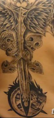 фото тату меч и крылья от 26.04.2018 №012 – tattoo sword and wings – tatufoto.com