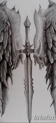 фото тату меч и крылья от 26.04.2018 №013 – tattoo sword and wings – tatufoto.com