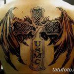 фото тату меч и крылья от 26.04.2018 №019 - tattoo sword and wings - tatufoto.com