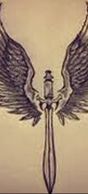 фото тату меч и крылья от 26.04.2018 №029 – tattoo sword and wings – tatufoto.com