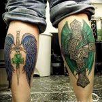 фото тату меч и крылья от 26.04.2018 №034 - tattoo sword and wings - tatufoto.com
