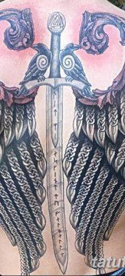 фото тату меч и крылья от 26.04.2018 №035 – tattoo sword and wings – tatufoto.com