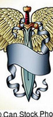 фото тату меч и крылья от 26.04.2018 №038 – tattoo sword and wings – tatufoto.com