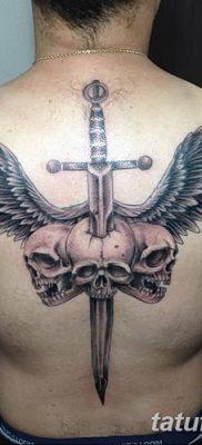 фото тату меч и крылья от 26.04.2018 №039 – tattoo sword and wings – tatufoto.com