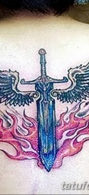 фото тату меч и крылья от 26.04.2018 №042 – tattoo sword and wings – tatufoto.com