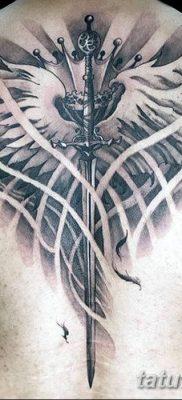фото тату меч и крылья от 26.04.2018 №044 – tattoo sword and wings – tatufoto.com
