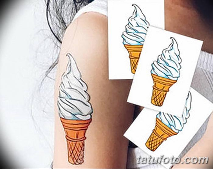 фото тату мороженое от 17.04.2018 №144 - ice cream tattoo - tatufoto.com