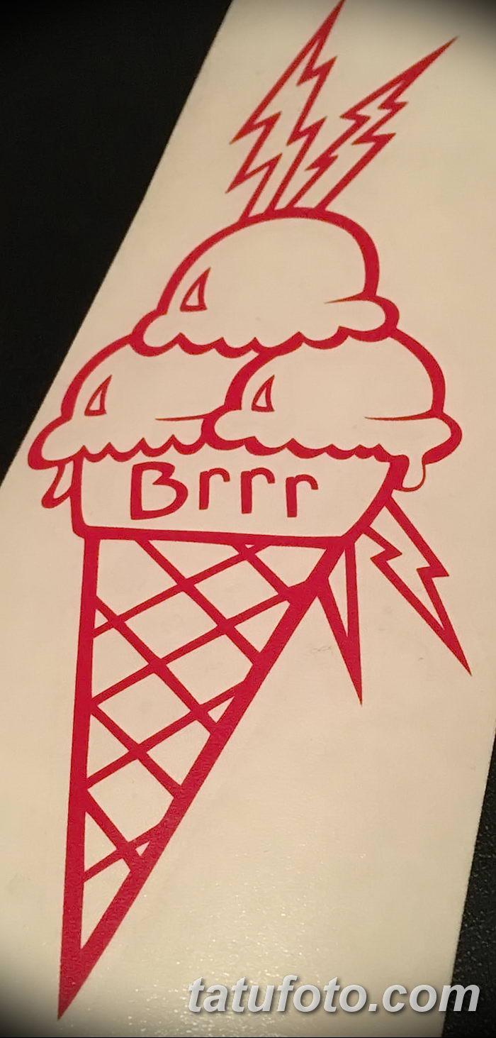 фото тату мороженое от 17.04.2018 №147 - ice cream tattoo - tatufoto.com