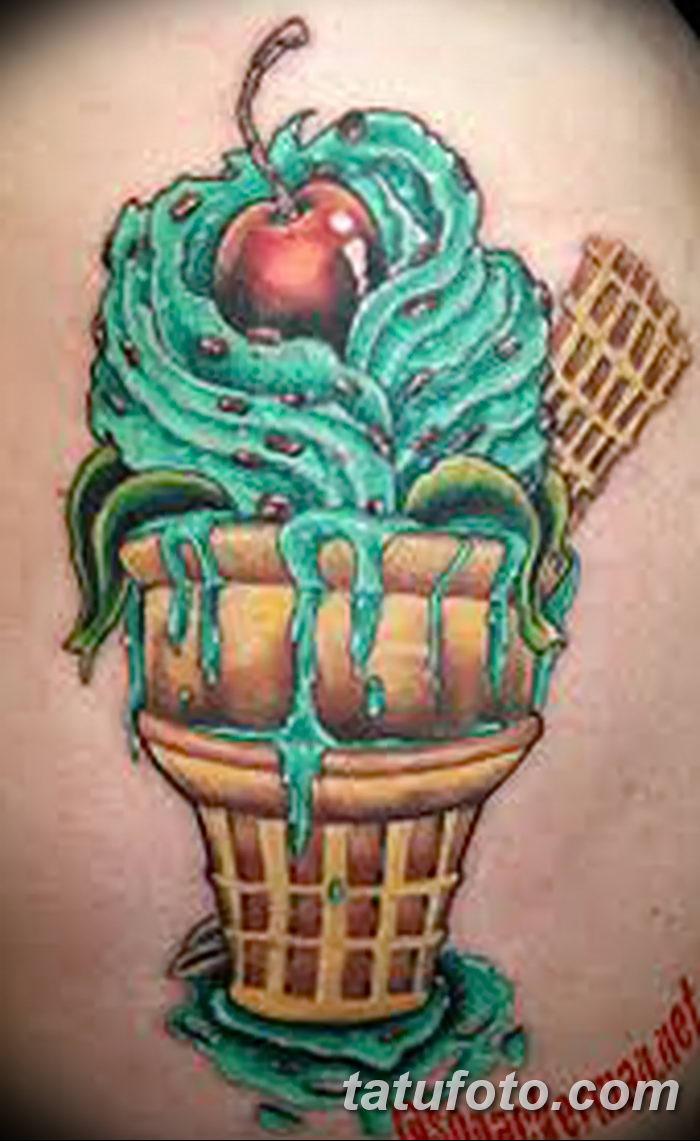фото тату мороженое от 17.04.2018 №151 - ice cream tattoo - tatufoto.com