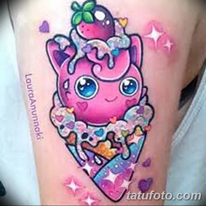 фото тату мороженое от 17.04.2018 №157 - ice cream tattoo - tatufoto.com