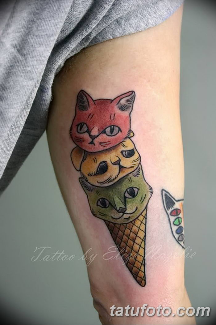 фото тату мороженое от 17.04.2018 №164 - ice cream tattoo - tatufoto.com
