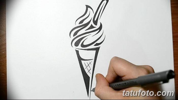 фото тату мороженое от 17.04.2018 №173 - ice cream tattoo - tatufoto.com