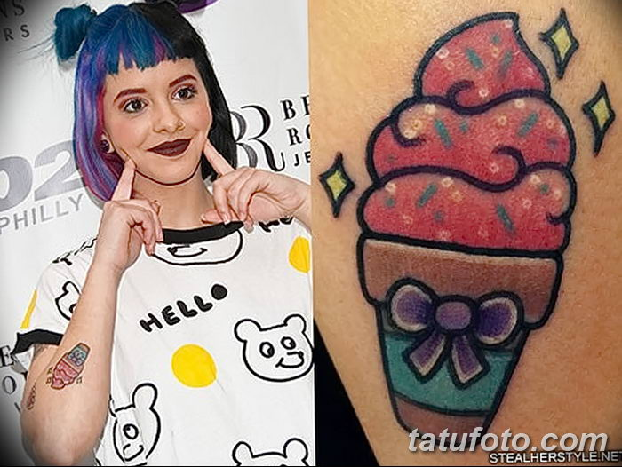 фото тату мороженое от 17.04.2018 №175 - ice cream tattoo - tatufoto.com