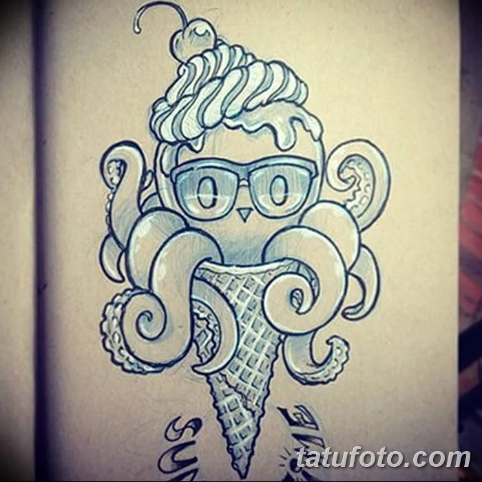 фото тату мороженое от 17.04.2018 №190 - ice cream tattoo - tatufoto.com