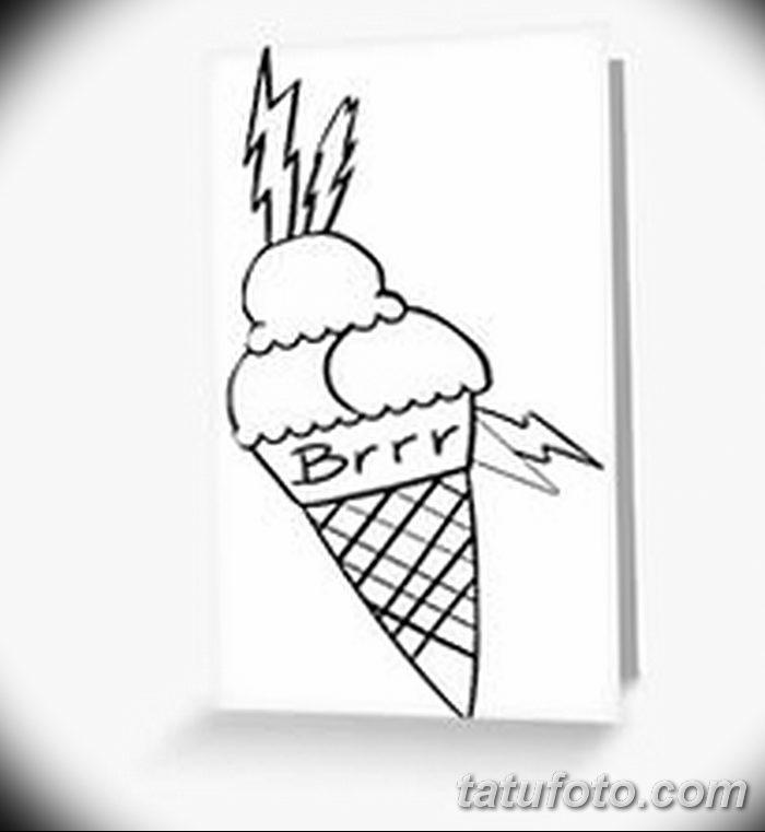 фото тату мороженое от 17.04.2018 №192 - ice cream tattoo - tatufoto.com