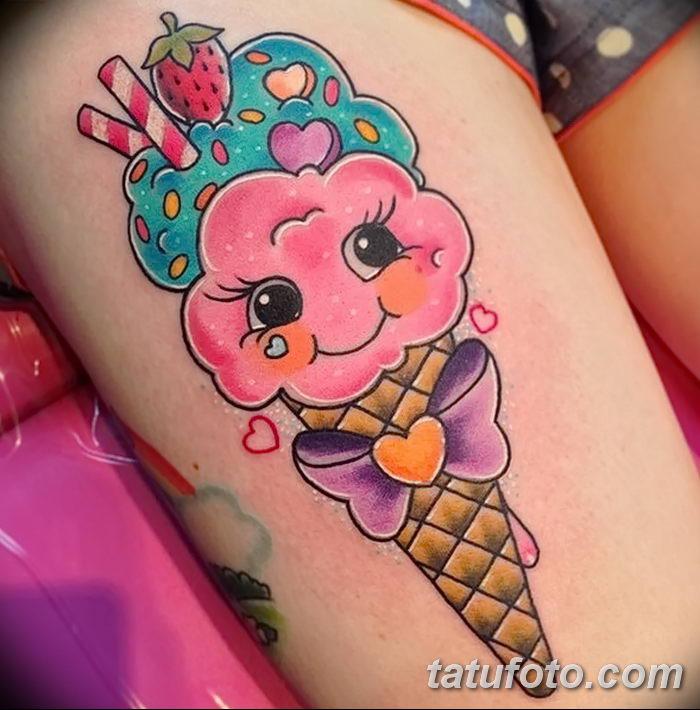 фото тату мороженое от 17.04.2018 №199 - ice cream tattoo - tatufoto.com
