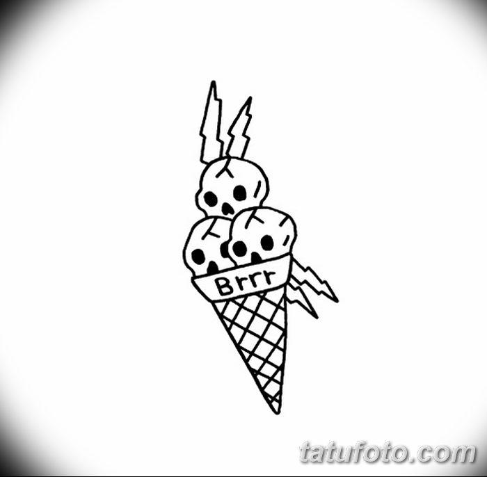 фото тату мороженое от 17.04.2018 №235 - ice cream tattoo - tatufoto.com