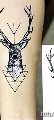 фото тату рога от 24.04.2018 №007 — tattoo horn — tatufoto.com