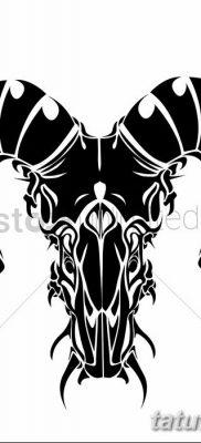 фото тату рога от 24.04.2018 №017 – tattoo horn – tatufoto.com