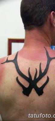 фото тату рога от 24.04.2018 №022 — tattoo horn — tatufoto.com