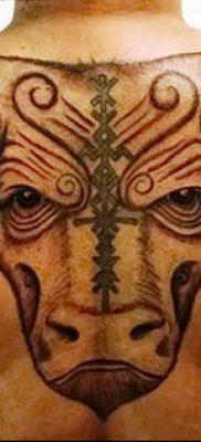 фото тату рога от 24.04.2018 №041 — tattoo horn — tatufoto.com