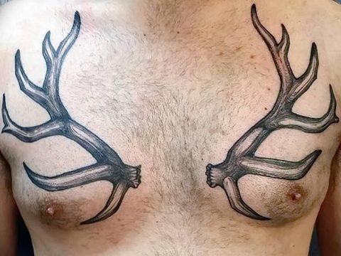 фото тату рога от 24.04.2018 №042 - tattoo horn - tatufoto.com