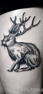 фото тату рога от 24.04.2018 №051 — tattoo horn — tatufoto.com