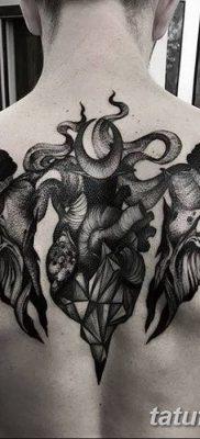 фото тату рога от 24.04.2018 №057 – tattoo horn – tatufoto.com