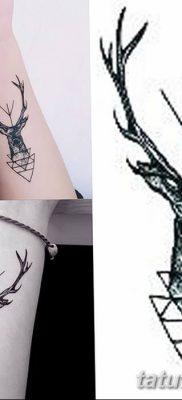 фото тату рога от 24.04.2018 №064 — tattoo horn — tatufoto.com