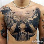 фото тату рога от 24.04.2018 №065 - tattoo horn - tatufoto.com