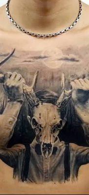 фото тату рога от 24.04.2018 №065 — tattoo horn — tatufoto.com