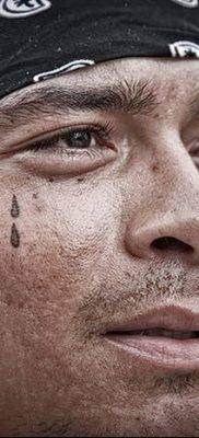 фото тату слеза на щеке от 16.04.2018 №002 – tattoo tear on cheek – tatufoto.com