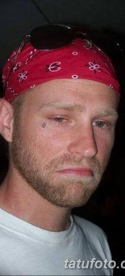 фото тату слеза на щеке от 16.04.2018 №017 – tattoo tear on cheek – tatufoto.com